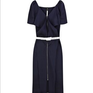 Roland Mouret - Navy Circe silk-gazar dress